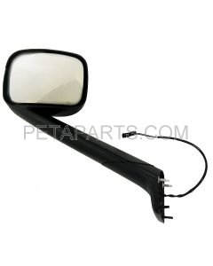Hood Mirror Black with Heated - Driver Side  (Fit: 2018 - 2020 Freightliner Cascadia Trucks)