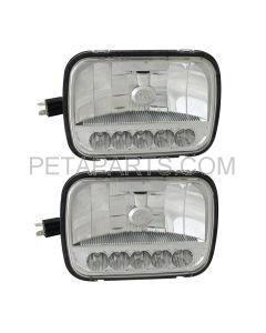 2 Pieces - 5  X 7  High/Low Beam LED Reflector Headlight