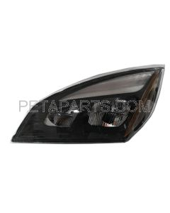 LED Headlight Assembly Black - Driver Side (Fit: Freightliner NEW Cascadia 2018-2020)