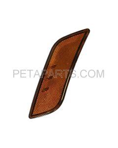 LED Front Fender Side Turn Signal Indicator Light Amber - Driver Side (Fit: 2010-2019 Peterbilt 587 579)