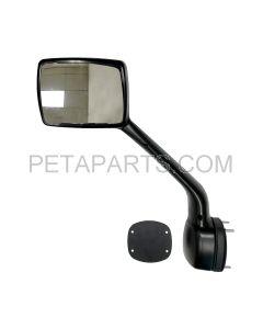 Hood Mirror Black with Mounting Kits - Driver Side (Fit: Kenworth T680 Peterbilt 579 587 Trucks)