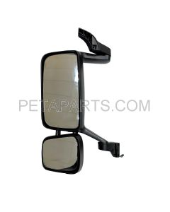 Door Mirror Assembly with Power Heated Black - Driver Side (Fit: Volvo VNL Function 2004 and Newer)