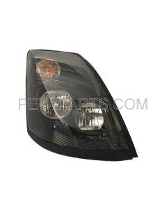Headlight Black with Halogen Bulb - Passenger Side (Fit: 2004-2015 Volvo VNL VN VNM)