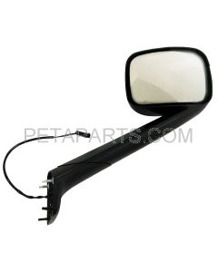 Hood Mirror Black with Heated  - Passenger Side  (Fit: 2018 - 2020 Freightliner Cascadia Trucks)