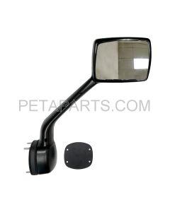 Hood Mirror Black with Mounting Kits Passenger Side (Fit: Kenworth T680 Peterbilt 579 587 Trucks)