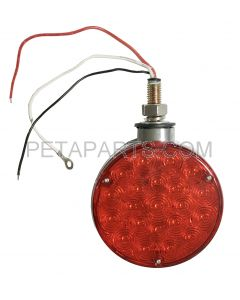 Pedestal Fender Light 42 LED - 4  Round Single Stud Mount Dual Face Red/Amber