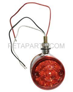 Pedestal Fender Light 30 LED - 3  Round Single Stud Mount Dual Face Red/Amber