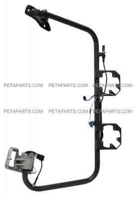 PETAPARTS PBP 35-061 Freightliner Columbia Door Mirror with Arm Passenger Side, Power Heated Black