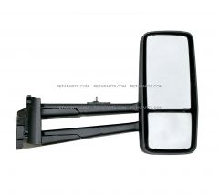 Door Mirror Power Heated Black - Passenger Side ( Fit: 2013-2020 Kenworth T680 T880, 2013-2020 W990 Trucks )