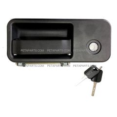 Exterior Cabin Door Handle With Lock and 2 Keys - Driver Side (Fit: 2005 - 2018 Volvo VNL 630 670 730 780 680 Trucks)