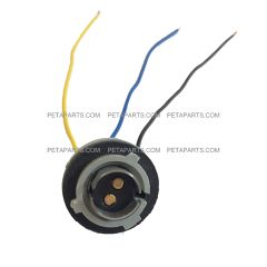 3 Wire Double Contact Universal 1176 Bulb Back up, Park, Stop, Tail and Turn Light Socket Pigtail
