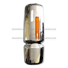 Door Mirror Cover Chrome with LED Turn Signal Strip - Driver Side (Fit:  International 4300 4400 7400 7600 8500 8600 Truck )