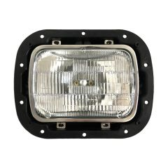 "5"" X 7"" High/Low Sealed Beam Headlight with Housing Base & Bucket Metal Black & Bezel Stainless (Fit: 2007-2020 Peterbilt 365 367, 2016-2020 Peterbilt 520, 2000-2005 Peterbilt 330, 1993-2008 Kenworth T300 )"