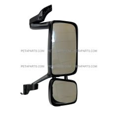 Door Mirror Assembly with Power Heated Black - Passenger Side (Fit: Volvo VNL Function 2004 and Newer)