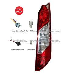 Tail Light with 194 7443 Bulbs and Sockets with Pigtail - Passenger Side (Fit: 2014 - 2017 Ford Transit Connect)