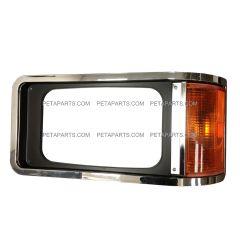 Headlight Bezel Chrome with Corner Light - Driver Side (Fit: Mack CH 613 SFA Truck)