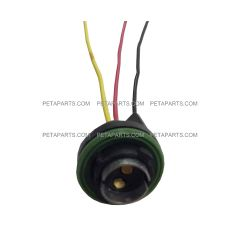 3 Wire Double Contact Universal 68 bulb Back up, Park, Stop, Tail and Turn Light Socket Pigtail