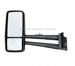 Door Mirror Power Heated Black - Driver Side (Fit: 2013-2020 Kenworth T680 T880, 2013-2020 W990 Trucks )