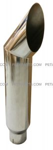 7  Cat Polished Stainless Exhaust Stack 5  ID Inlet 36  Long