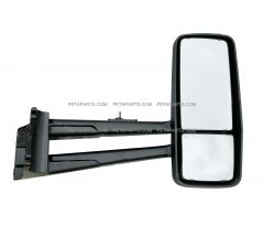 Door Mirror Power Heated Chrome - Passenger Side ( Fit: 2013-2020 Kenworth T680 T880, 2013-2020 W990 Trucks )