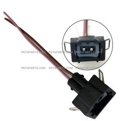 2 Wire Plug 2 Pin Female Connector with Snap lock (Fit: Most Car and Truck)