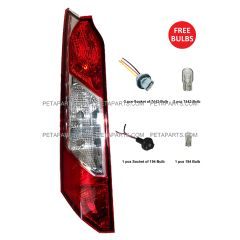 Tail Light with 194 7443 Bulbs and Sockets with Pigtail - Driver Side (Fit: 2014 - 2017 Ford Transit Connect)