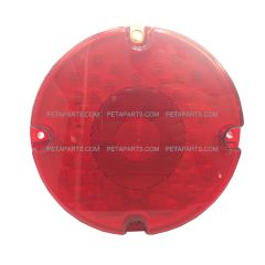 "7"" Round 44 Diodes Red/Red Stop Turn Tail Light (Fit: School Bus)"