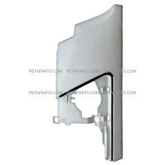 Front Cowl Corner Panel Plastic White - Driver Side (Fit: 2008-2017 Isuzu NRR and NPR , 2008-2010 GMC W4000 W4500 Trucks)