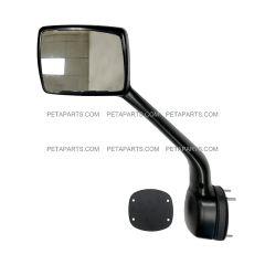 Hood Mirror Chrome with Mounting Kits - Driver Side (Fit: Kenworth T680 Peterbilt 579 587  Trucks)