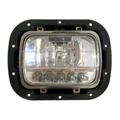 "5"" x 7"" LED High / Low Beam Reflector Headlight with Housing Base and Bucket Metal Black and Bezel Stainless (Fit: 2007-2020 Peterbilt 365 367, 2016-2020 Peterbilt 520, 2000-2005 Peterbilt 330, 1993-2008 Kenworth T300 )"