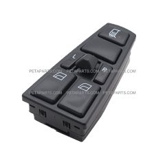Master Window Switch for 2 Windows With Mirror Motor and Mirror Heater Control - Driver Side (Fit: 2004-2017 Volvo VNL and VNM)