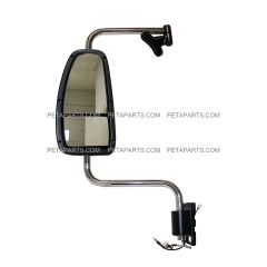 Door Mirror Assembly Power Heated White with Arm - Driver Side (Fit: 1997 - 2010 International 9200, 9400i, 9900i, 5900)