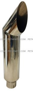 8  Cat Polished Stainless Exhaust Stack 5  ID Inlet 39  Long
