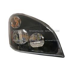 LED Headlight Assembly Black - Passenger Side (Fit: Freightliner Cascadia 2008-2017)