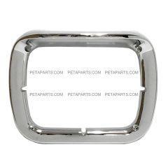 """6"""" x 8"""" Headlight Bezel / Visor Chrome Plastic (Fit: 2007-2020 Peterbilt 365 367, 2016-2020 Peterbilt 520, 2000-2005 Peterbilt 330, 1993-2008 Kenworth T300 )"""