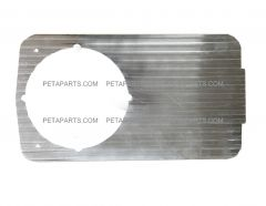 Headlight Bezel Plate Aluminum (Fit: 1966-1977 Mack R Series)