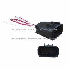 8 Wire Plug 8-Pin Male Connector (FIt: 2004 - 2015 Volvo VNL VN VNM Headlight)