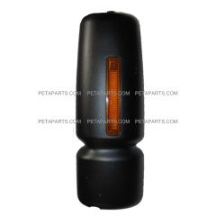 Door Mirror Cover Black with LED Turn Signal Strip - Passenger Side (Fit:  International 4300 4400 7400 7600 8500 8600 Truck )