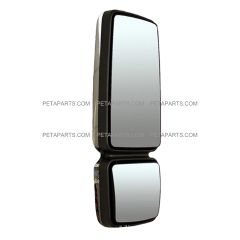 Door Mirror Chrome with LED Turn Signal Strip - Driver Side (Fit: International 4300 4400 7400 7600 8500 8600 Truck )