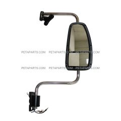 Door Mirror Assembly Power Heated White with Arm - Passenger Side (Fit: 1997 - 2010 International 9200, 9400i, 9900i, 5900)