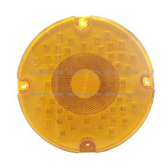 "7"" Round 44 Diodes Amber/Amber Stop Turn Tail Light (Fit: School Bus)"