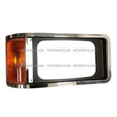 Headlight Bezel Chrome with Corner Light - Passenger Side (Fit: Mack CH 613 SFA Truck)