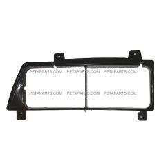 Headlight Bezel Plastic Black - Driver Side   (Fit: 1995-2005 Isuzu NPR NRR)
