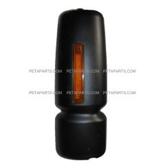 Door Mirror Cover Black with LED Turn Signal Strip - Driver Side (Fit:  International 4300 4400 7400 7600 8500 8600 Truck )