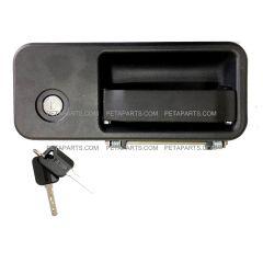 Exterior Cabin Door Handle With Lock and 2 Keys - Passenger Side (Fit: 2005-2018 Volvo VNL 630 670 730 780 680 Trucks)