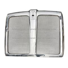 Grille Chrome with Bug Net Mesh Iron Grey (Fit: 2013-2020 Kenworth T680)