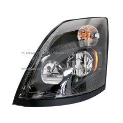 LED Headlight Assembly Black - Driver Side (Fit: 2004-2018 Volvo VNL VN VNM)