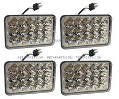 4 x 6  15 LED Sealed Beam Headlight Headlamp Set 4pcs