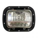 """5"""" x 7"""" LED High / Low Beam Reflector Headlight with Housing Base and Bucket Metal Black and Bezel Stainless (Fit: 2007-2020 Peterbilt 365 367, 2016-2020 Peterbilt 520, 2000-2005 Peterbilt 330, 1993-2008 Kenworth T300 )"""